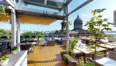 Тур Matterport по летний террасе ресторана Terrassa Ginza Project