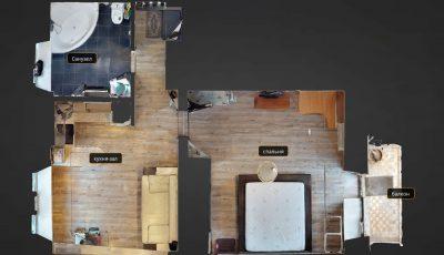 Matterport тур по уютной 2-комнатной квартире-студий 3D Model